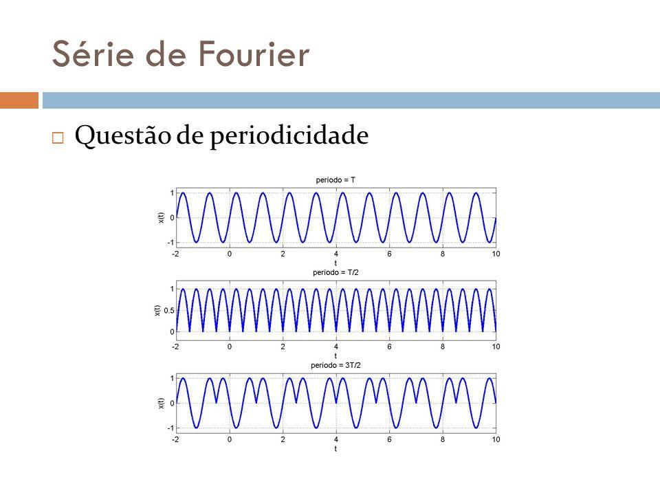 Série de Fourier Questão de periodicidade