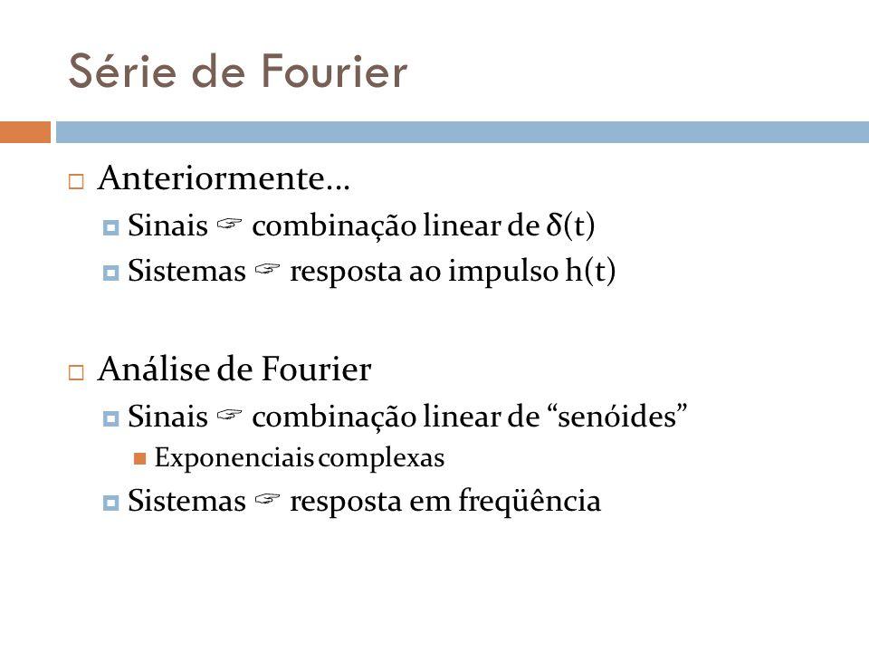 Série de Fourier Anteriormente... Análise de Fourier