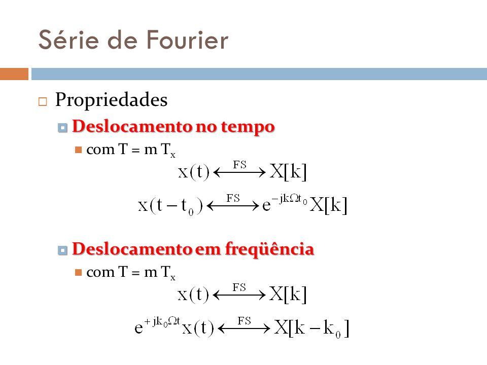 Série de Fourier Propriedades Deslocamento no tempo