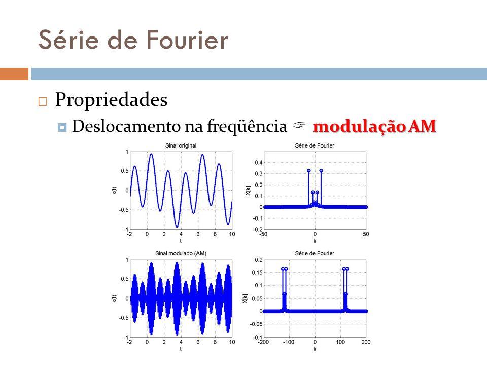 Série de Fourier Propriedades