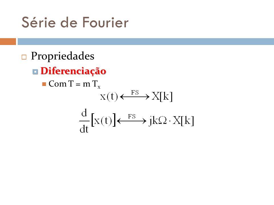Série de Fourier Propriedades Diferenciação Com T = m Tx