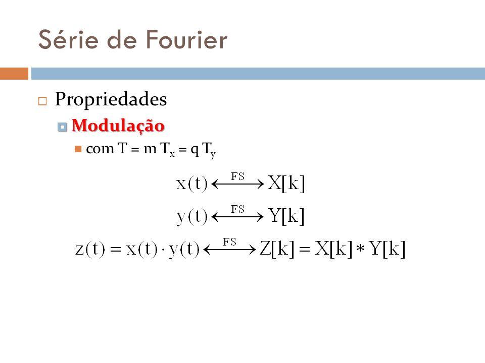 Série de Fourier Propriedades Modulação com T = m Tx = q Ty