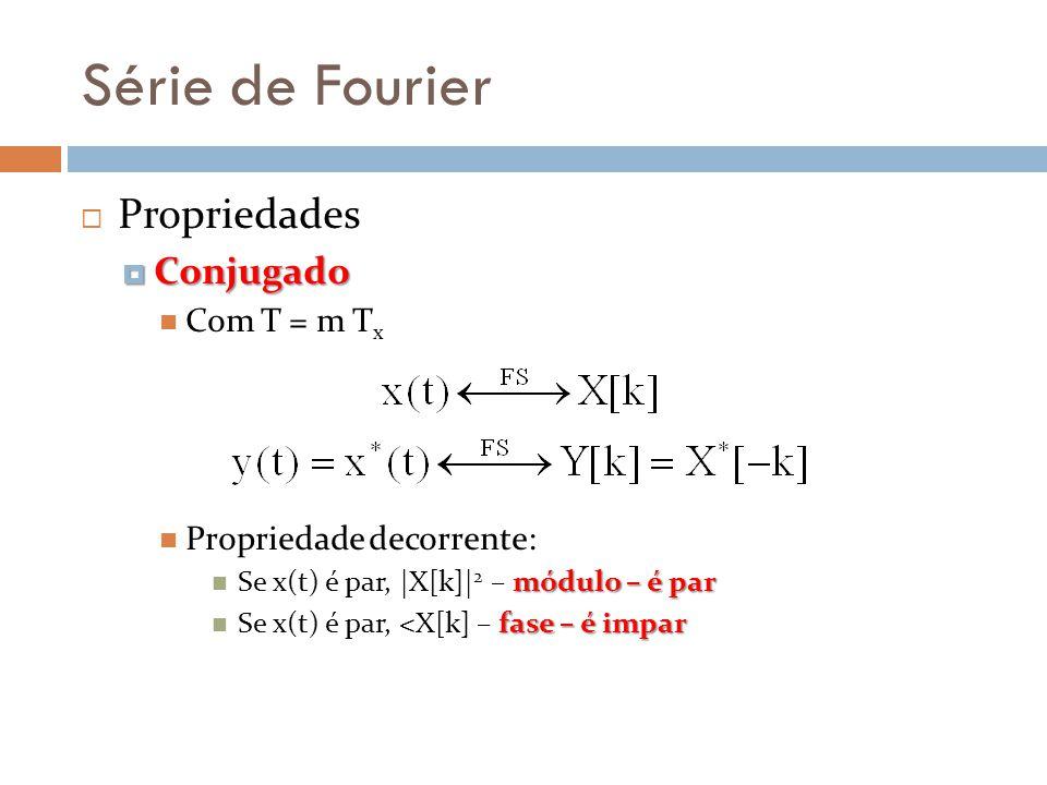 Série de Fourier Propriedades Conjugado Com T = m Tx