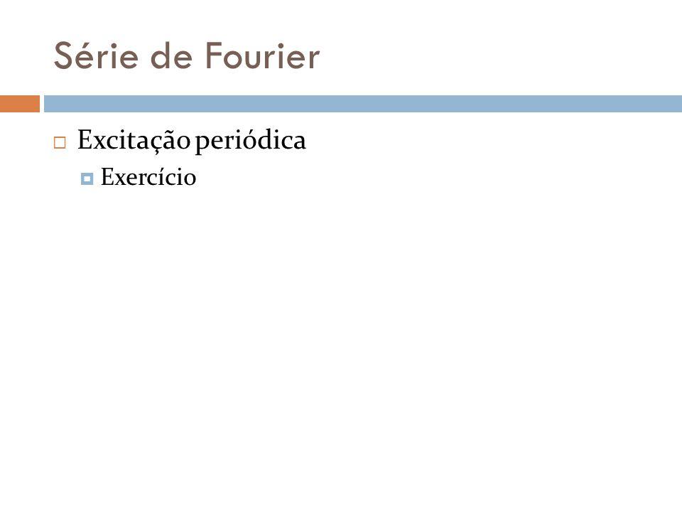 Série de Fourier Excitação periódica Exercício