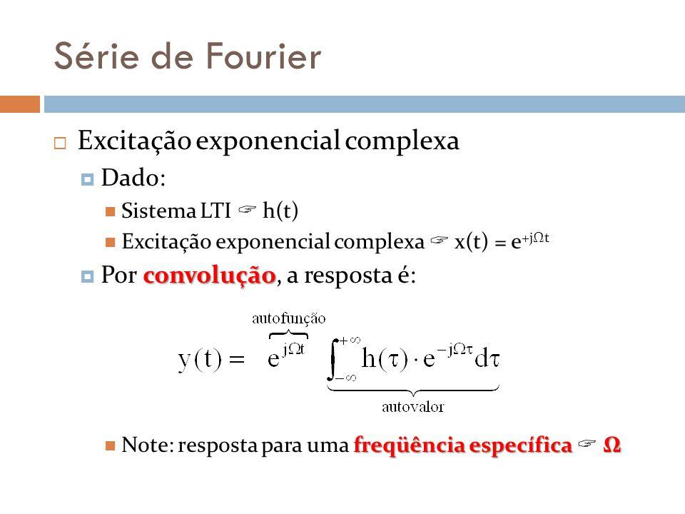 Série de Fourier Excitação exponencial complexa Dado: