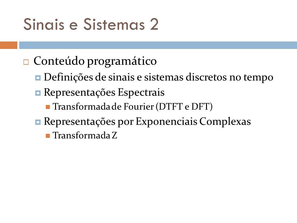Sinais e Sistemas 2 Conteúdo programático