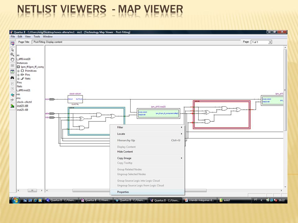 Netlist viewers - MAP VIEWER