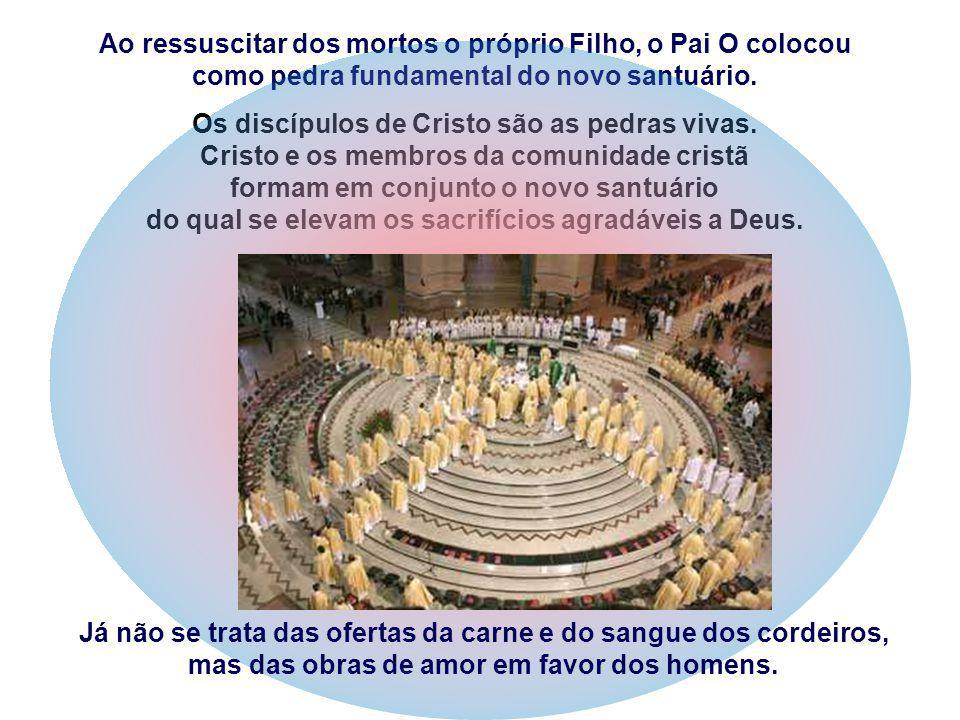 Os discípulos de Cristo são as pedras vivas.