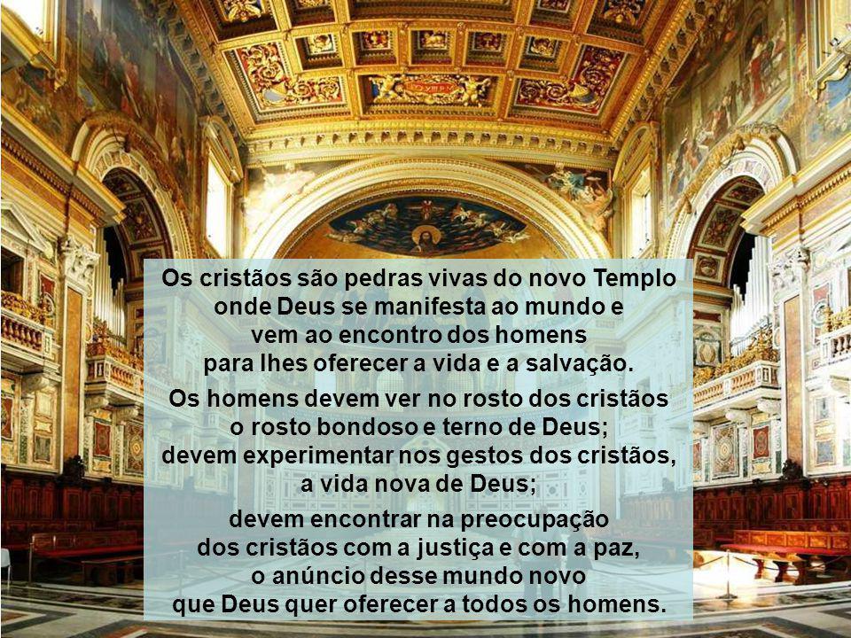 Os cristãos são pedras vivas do novo Templo