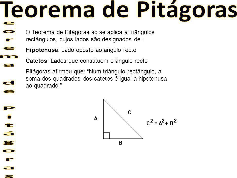 Teorema de Pitágoras eorema de Pitágoras