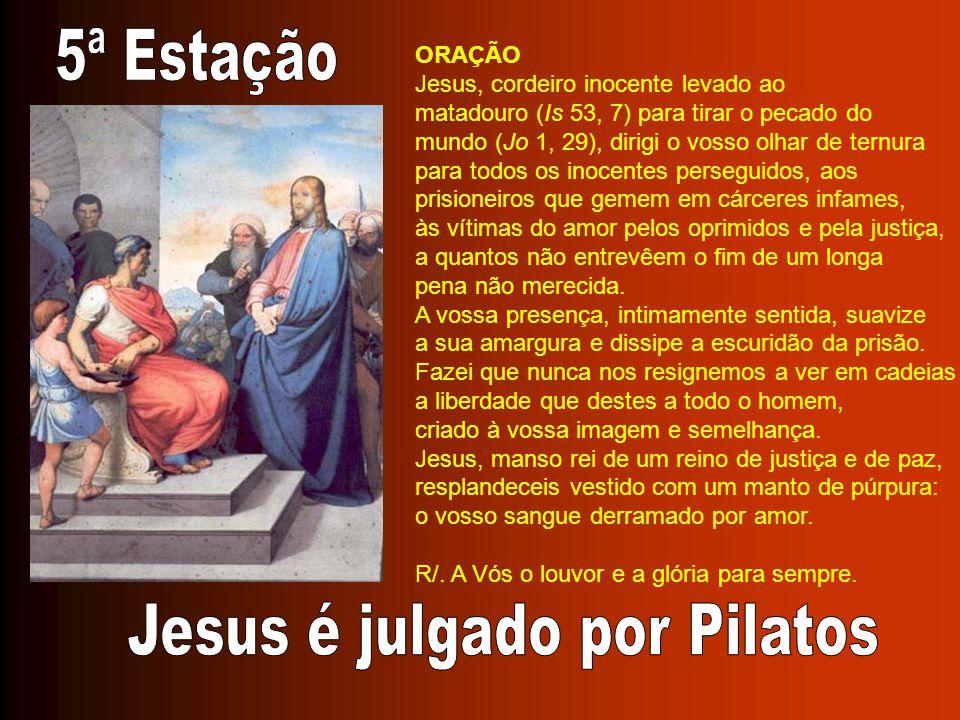 Jesus é julgado por Pilatos