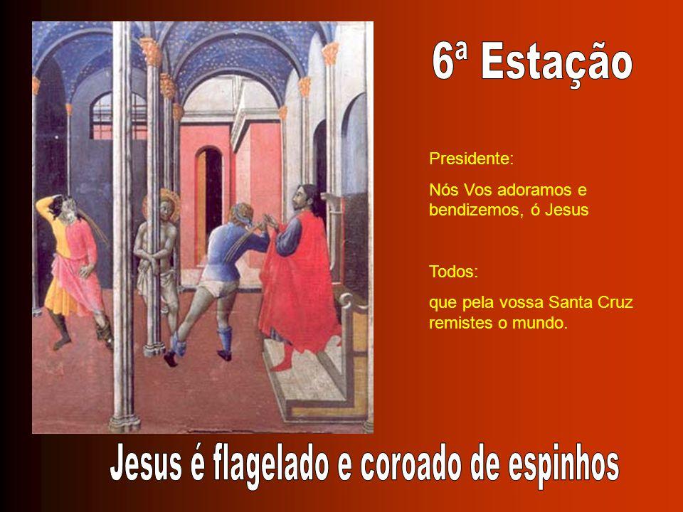 Jesus é flagelado e coroado de espinhos