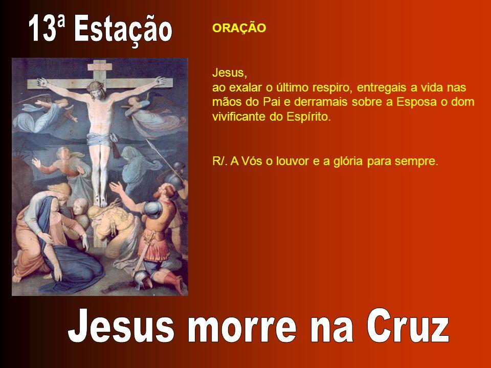 13ª Estação Jesus morre na Cruz ORAÇÃO