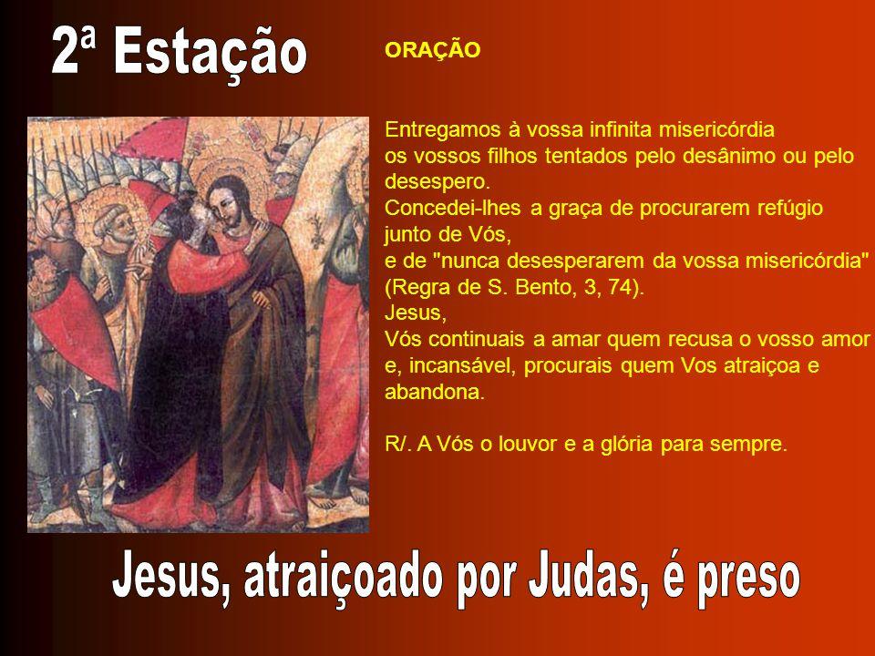 Jesus, atraiçoado por Judas, é preso