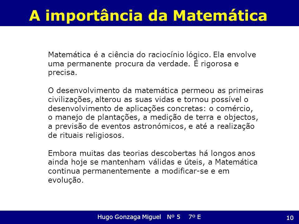 A importância da Matemática