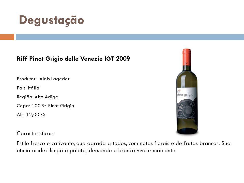 Degustação Riff Pinot Grigio delle Venezie IGT 2009
