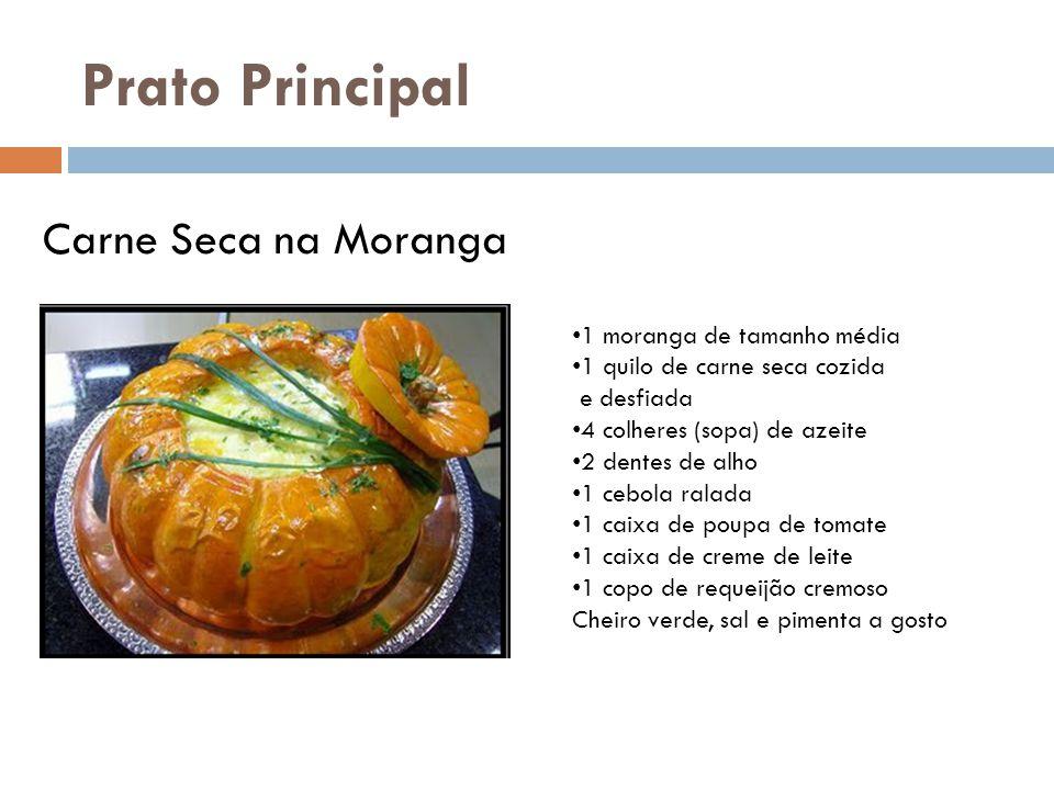 Prato Principal Carne Seca na Moranga 1 moranga de tamanho média