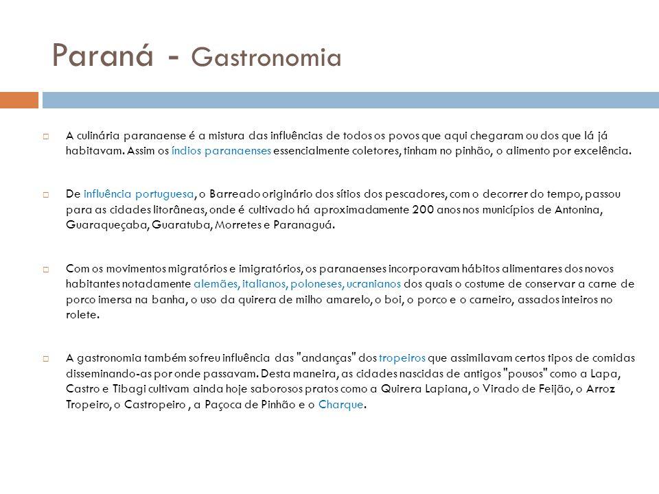 Paraná - Gastronomia
