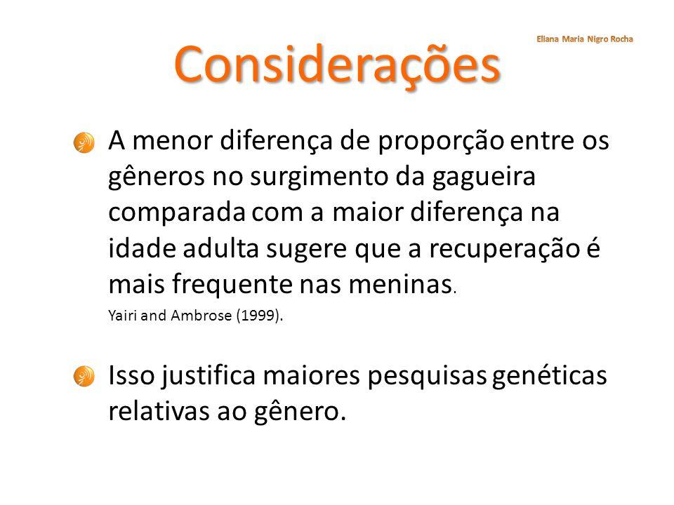 Considerações Eliana Maria Nigro Rocha.