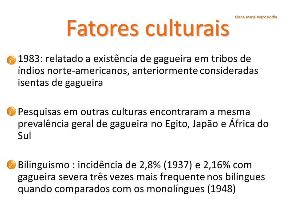 Fatores culturais Eliana Maria Nigro Rocha.