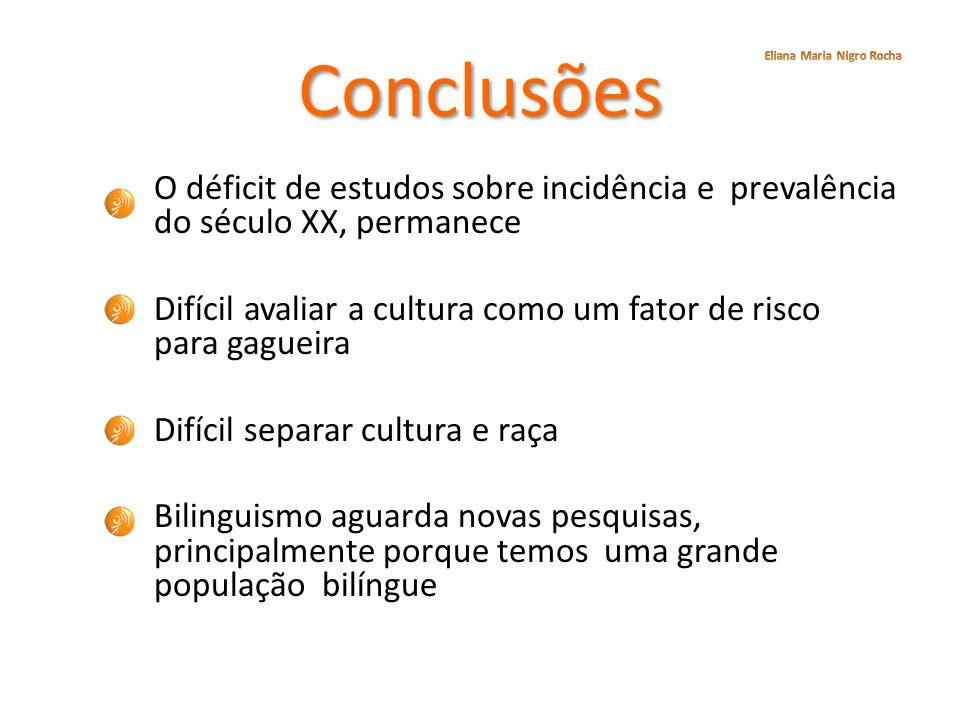 Conclusões Eliana Maria Nigro Rocha.