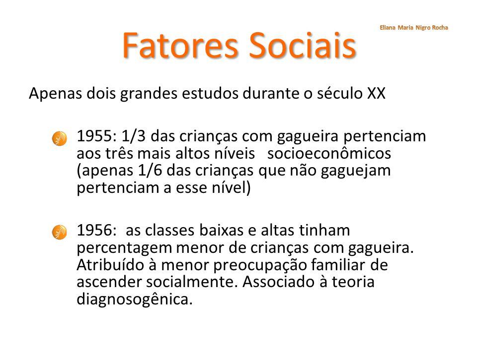 Fatores Sociais Eliana Maria Nigro Rocha.