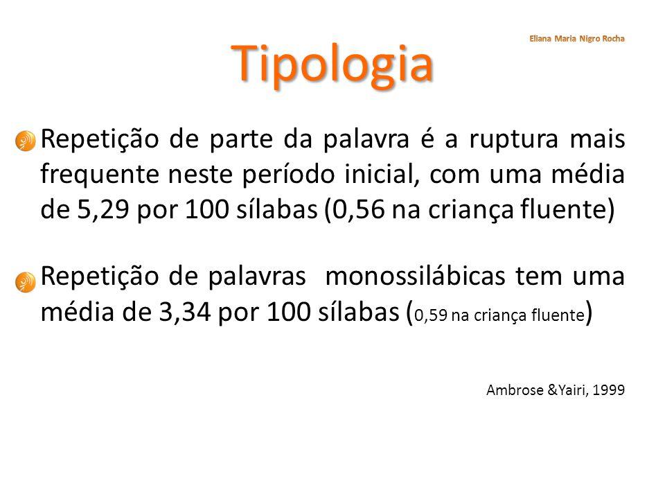 Tipologia Eliana Maria Nigro Rocha.