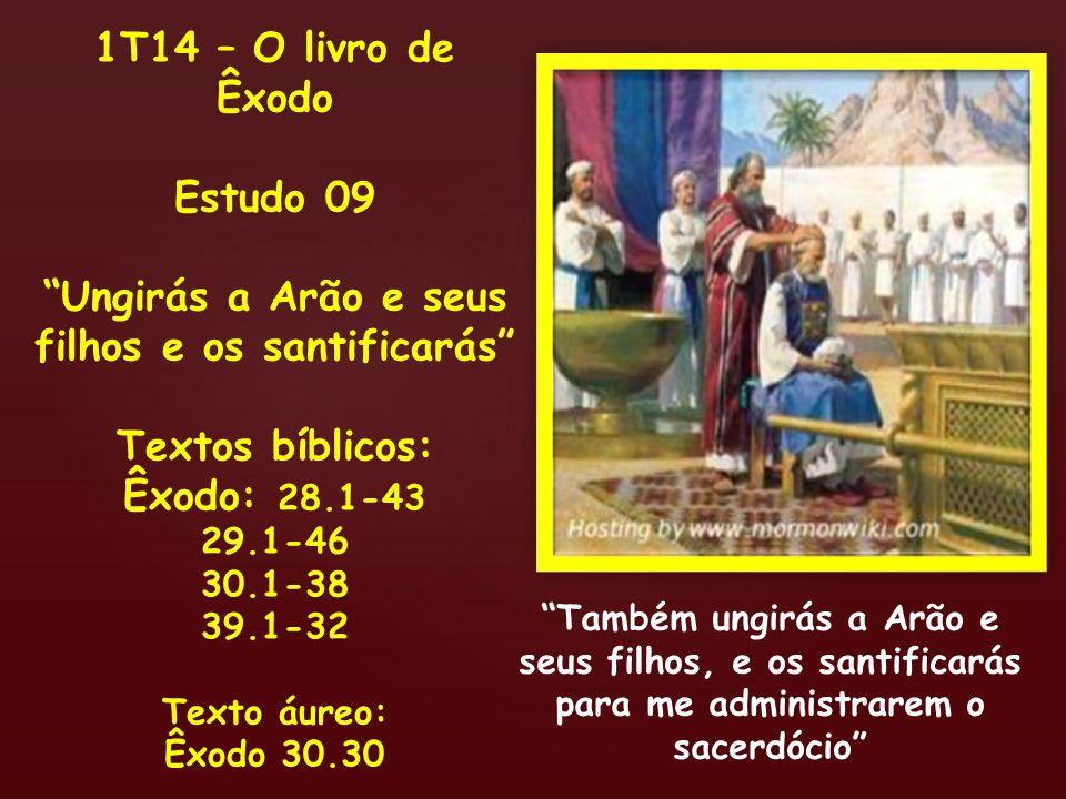 Ungirás a Arão e seus filhos e os santificarás