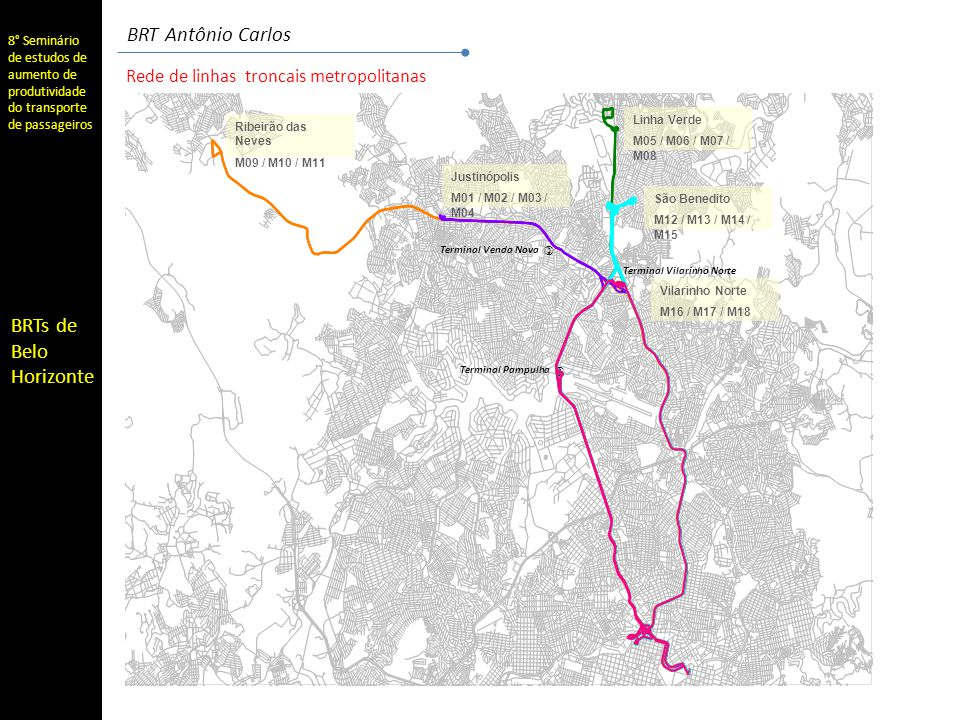 BRT Antônio Carlos Rede de linhas troncais metropolitanas )