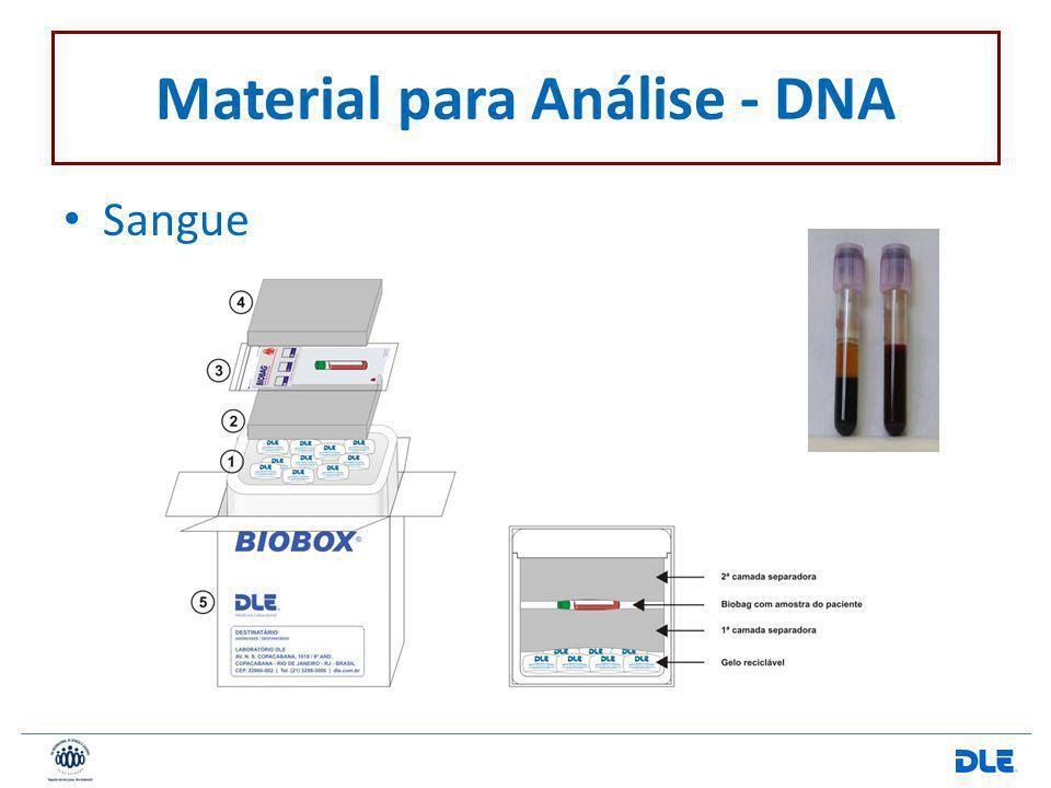 Material para Análise - DNA