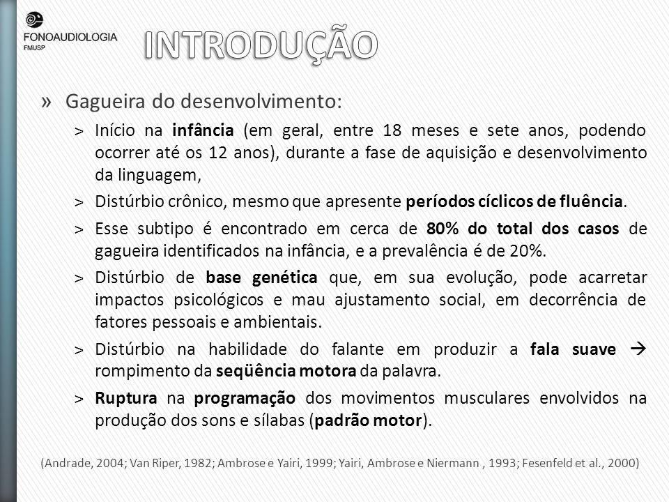 INTRODUÇÃO Gagueira do desenvolvimento: