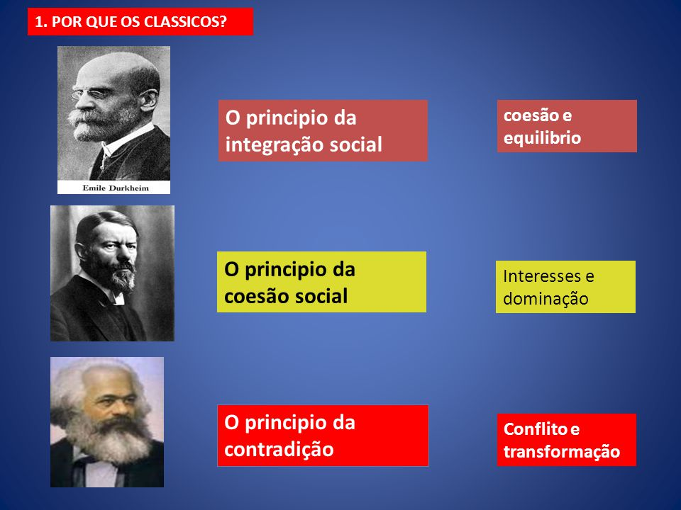 O principio da integração social