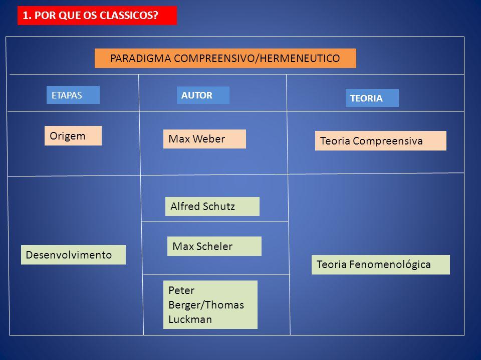PARADIGMA COMPREENSIVO/HERMENEUTICO