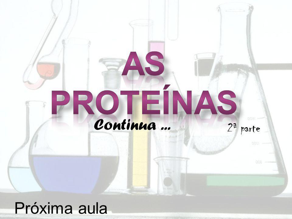 As proteínas Continua ... 2ª parte Próxima aula