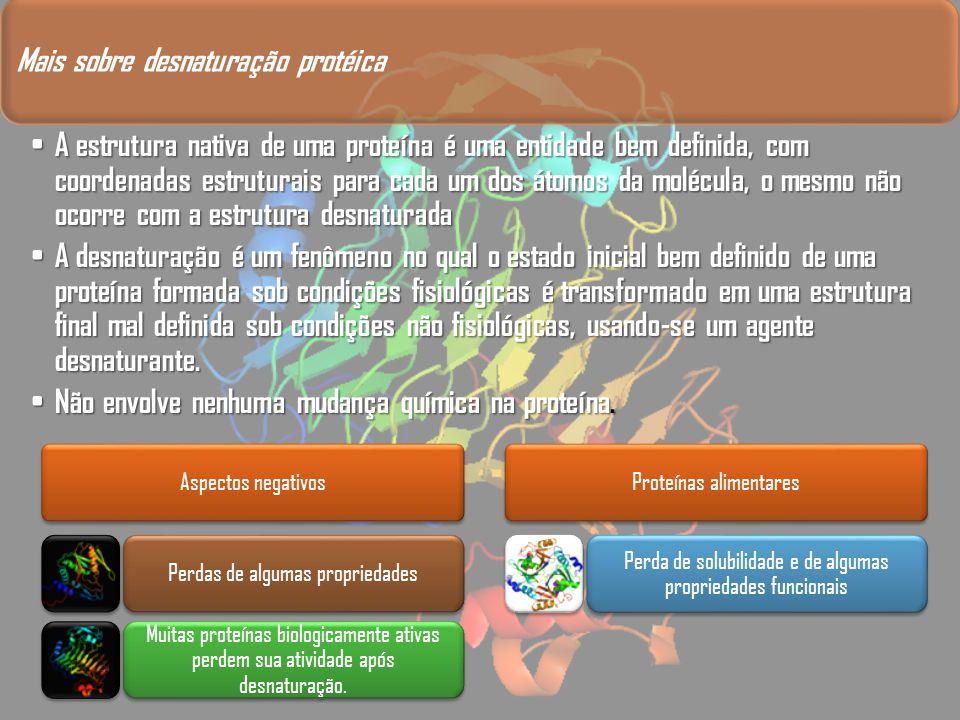 Mais sobre desnaturação protéica