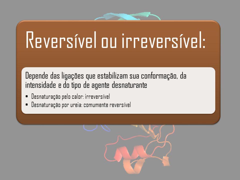 Reversível ou irreversível: