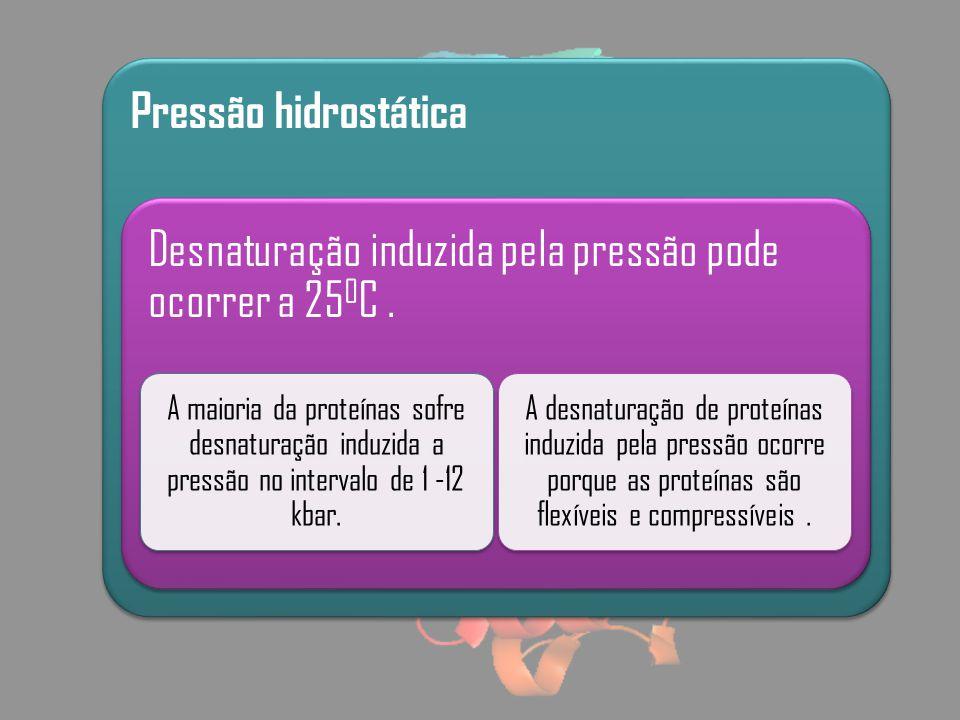 Desnaturação induzida pela pressão pode ocorrer a 250C .