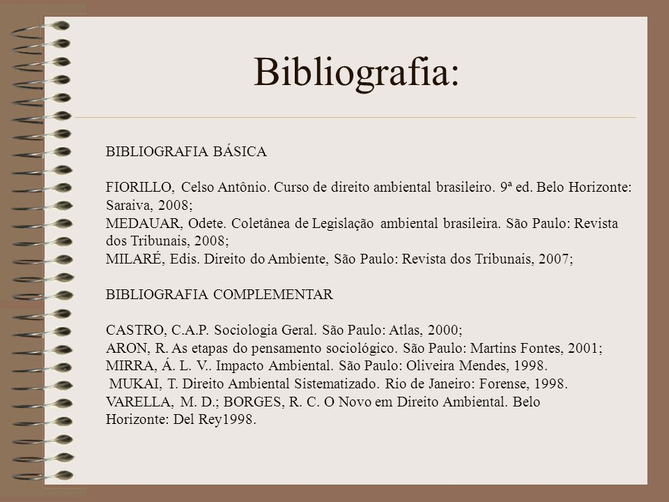 Bibliografia: BIBLIOGRAFIA BÁSICA