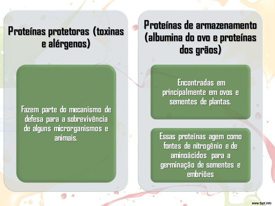 Proteínas protetoras (toxinas e alérgenos)