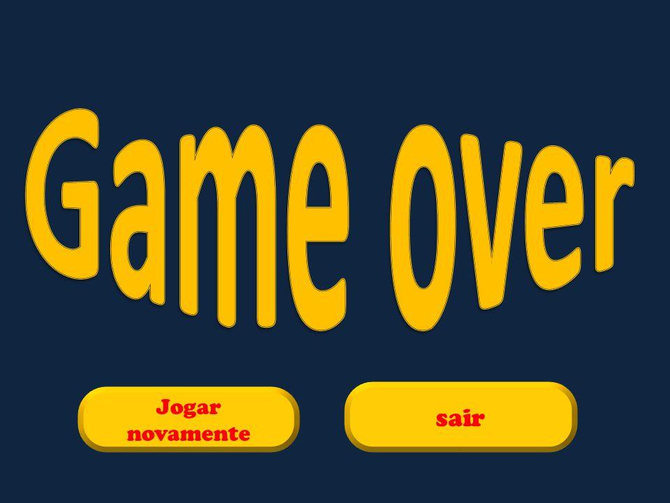 Game over sair Jogar novamente