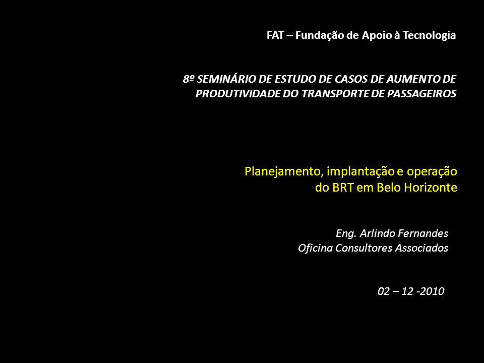 Planejamento, implantação e operação do BRT em Belo Horizonte