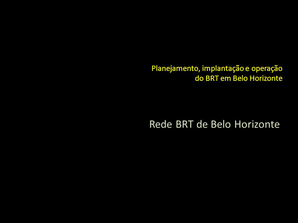 Rede BRT de Belo Horizonte