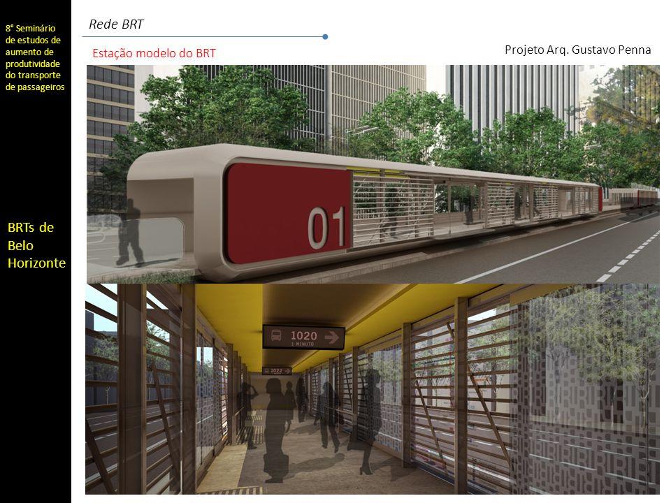 Rede BRT Estação modelo do BRT Projeto Arq. Gustavo Penna