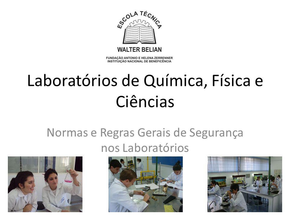 Laboratórios de Química, Física e Ciências