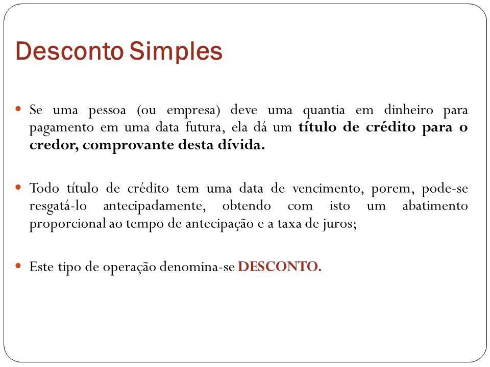 Desconto Simples