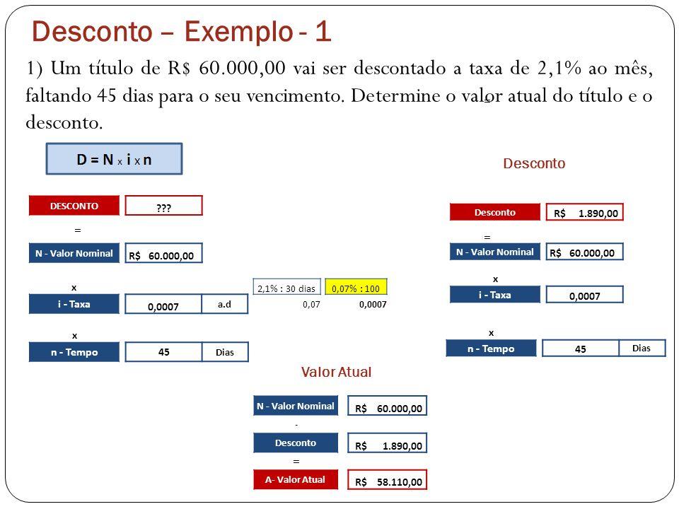 Desconto – Exemplo - 1