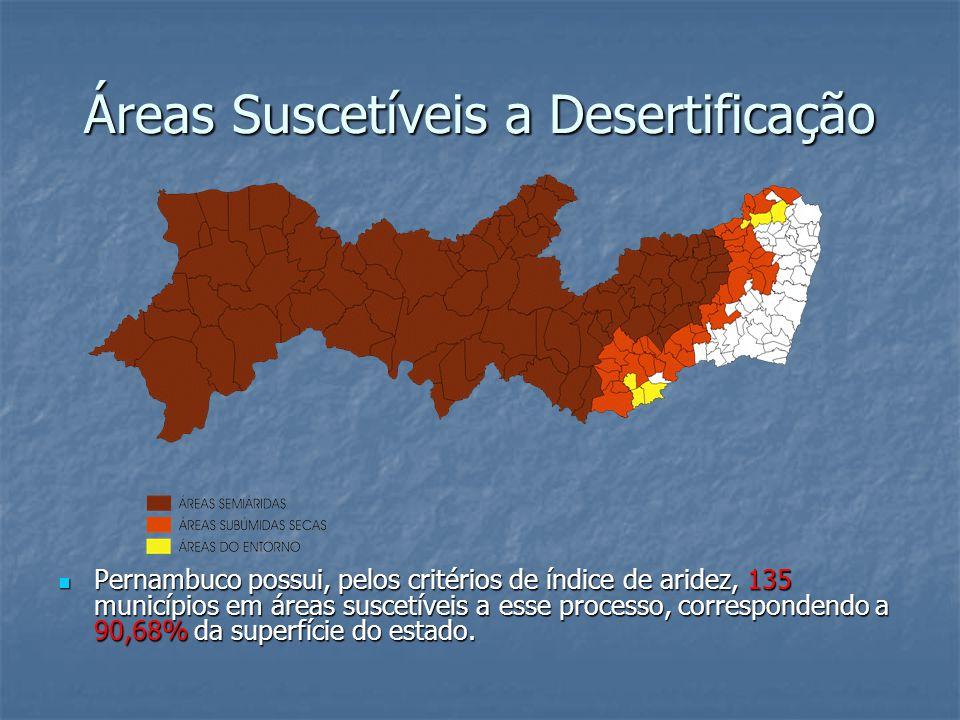 Áreas Suscetíveis a Desertificação