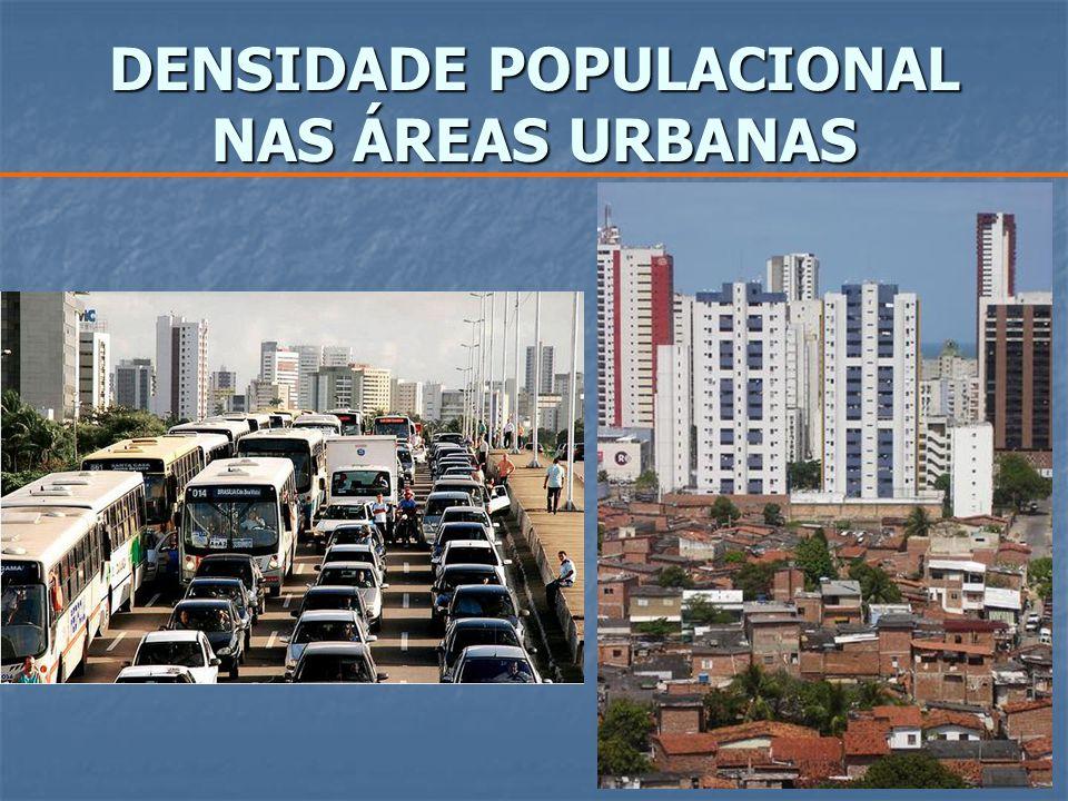 DENSIDADE POPULACIONAL NAS ÁREAS URBANAS