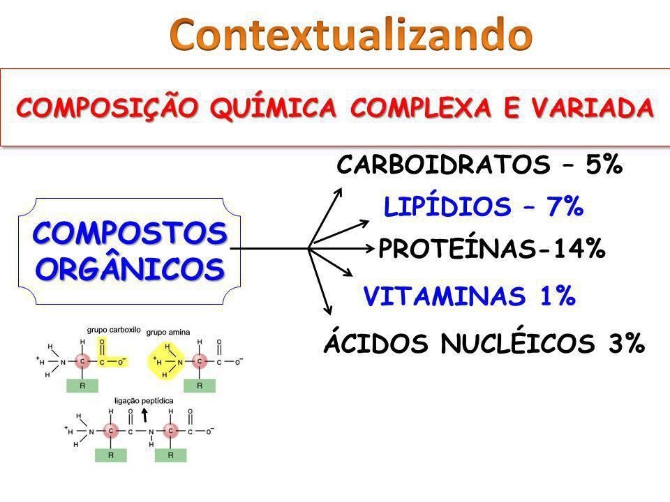 COMPOSIÇÃO QUÍMICA COMPLEXA E VARIADA