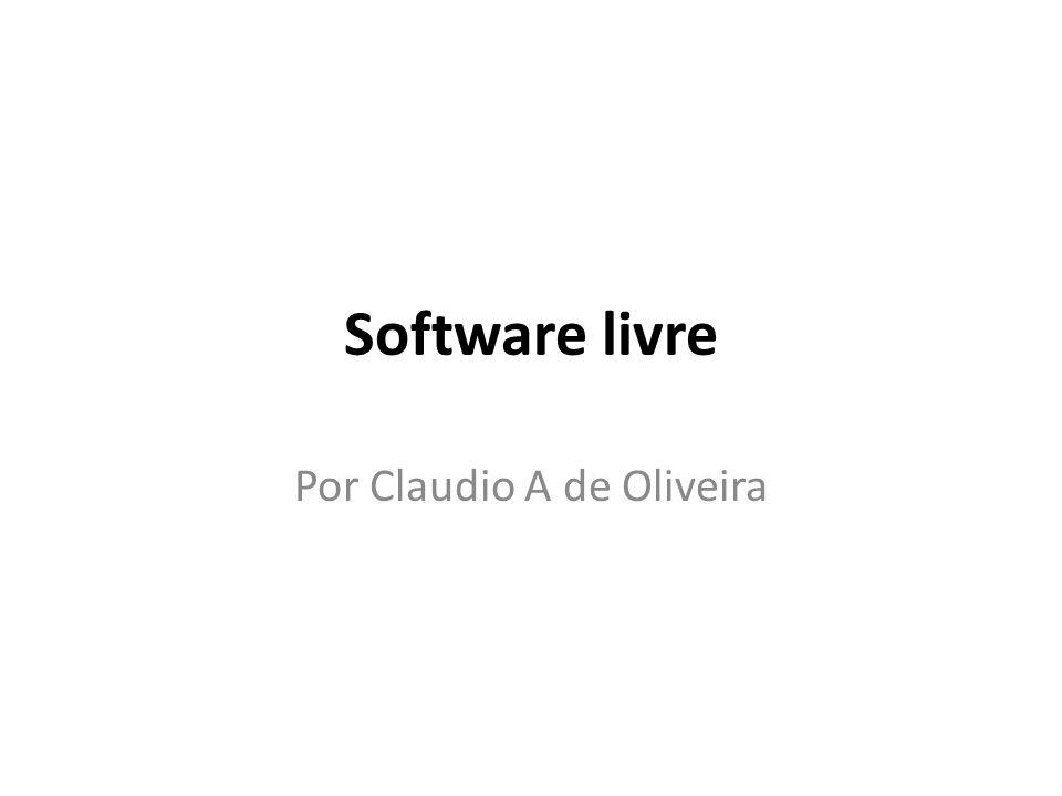 Por Claudio A de Oliveira